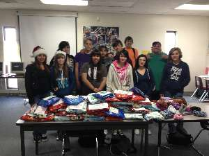 Image: TOPS Students Make 118 Beanies For Christmas
